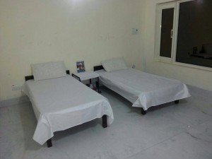 Dormitory without attached bathroom